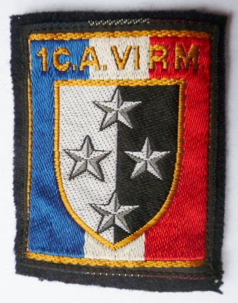 1° CA 6° RM METZ INSIGNE TISSU PATCH ARMEE FRANCE