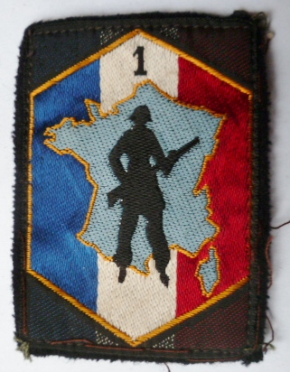 1° RM DOT DEFENSE OPERATIONNELLE TERRITOIRE PATCH TISSU ARMEE