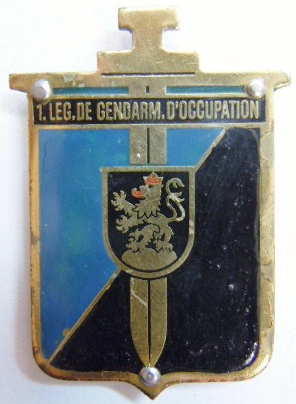 1° LGO LEGION GENDARMERIE OCCUPATION Allemagne 1945 FFA