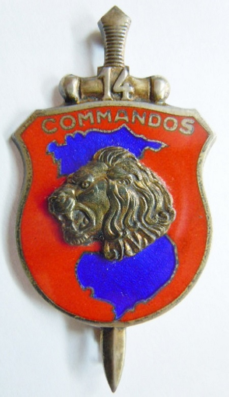COMMANDO 14 INDOCHINE ARGENT MASSIF ORIGINAL