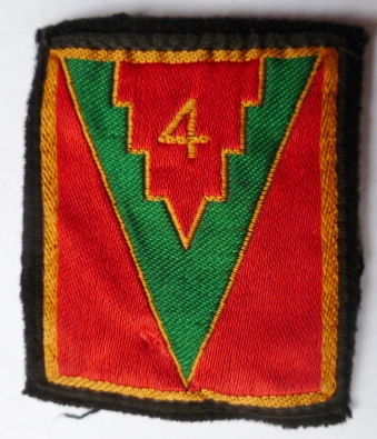 4° DI DIVISION INFANTERIE PATCH INSIGNE TISSU ARMEE FRANCE