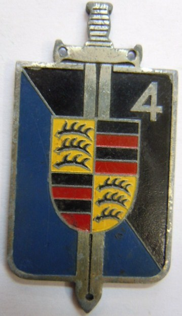 4° LGO LEGION GENDARMERIE OCCUPATION Allemagne 1945 FFA type 2
