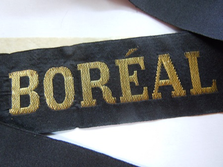 BOREAL avant 1939 RUBAN LEGENDE ORIGINAL CAP TALLY