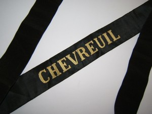 CHEVREUIL 1940 et Indochine  RUBAN LEGENDE CAP TALLY ORIGINAL