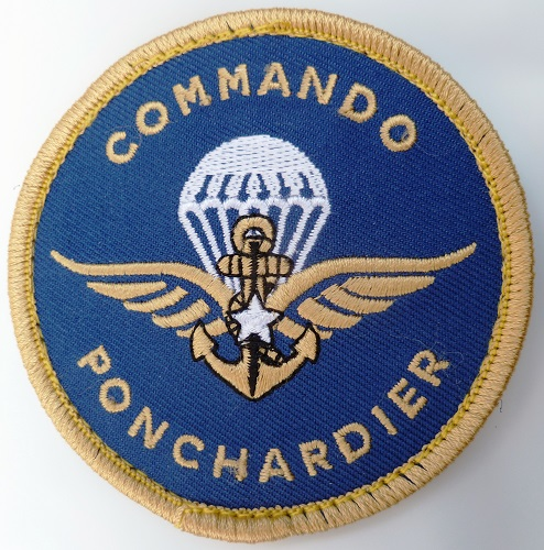 Patch COMMANDO MARINE PONCHARDIER tissu ORIGINAL France