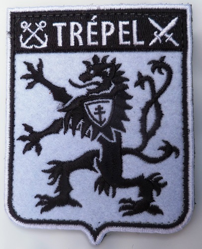 Patch COMMANDO MARINE TREPEL tissu ORIGINAL France SCRATCH