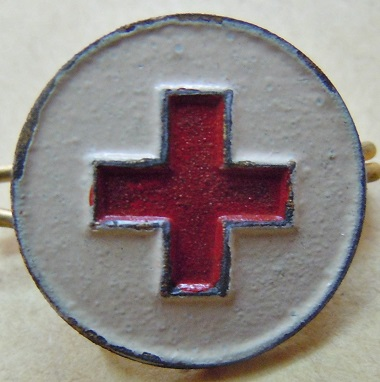 CRF CROIX ROUGE FRANCAISE WWI 1914 WWII 1940 insigne boutonnièr