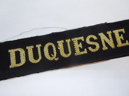 DUQUESNE Croiseur post 1945 RUBAN LEGENDE CAP TALLY