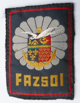 FAZSOI FORCES ARMEES ZONE SUD OCEAN INDIEN PATCH TISSU ORIGINAL