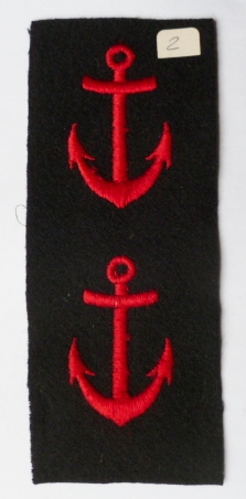 2 ANCRES UNIFORME MARINE NATIONALE FRANCE N°2