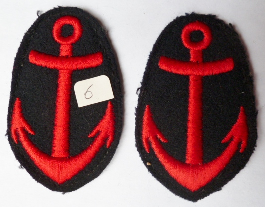2 ANCRES UNIFORME MARINE NATIONALE FRANCE N°6