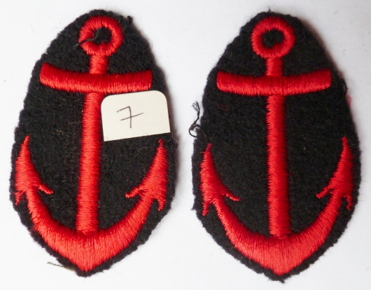 2 ANCRES UNIFORME MARINE NATIONALE FRANCE N°7