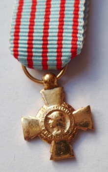 Miniature CROIX DU COMBATTANT FRANCE FRENCH MEDAL