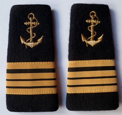 PATTES D'EPAULES OFFICIER CNE CORVETTE MARINE FRANCE ORIGINAL