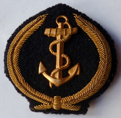 INSIGNE DE CASQUETTE MARINE NATIONALE FRANCE OFFICIER MARINIER E