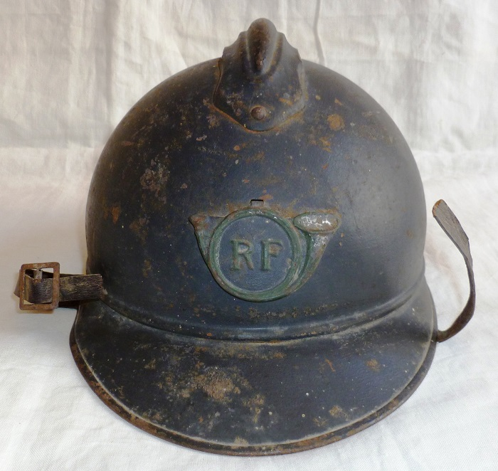 CASQUE ADRIAN 1915 CHASSEURS ALPINS / A PIED BCA BCP WWI