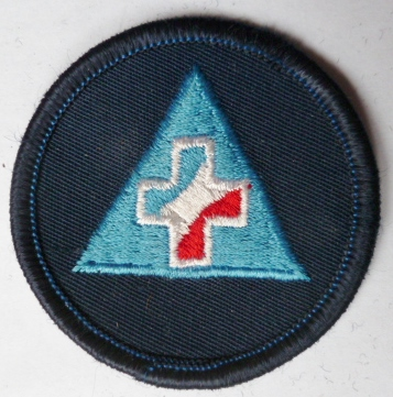 SECOURISTE SECURITE CIVILE PATCH INSIGNE TISSU ORIGINAL