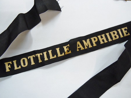 FLOTTILLE AMPHIBIE Ruban légendé Indochine ORIGINAL